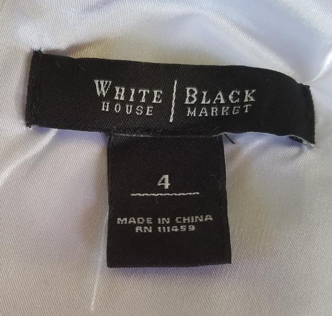White House | Black Market short dress Black, White Sheath Floral Cotton Stretch And on Tradesy Image 3