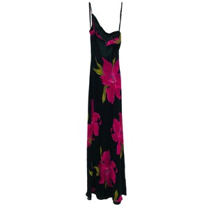 Black, Pink Maxi Dress by Cache