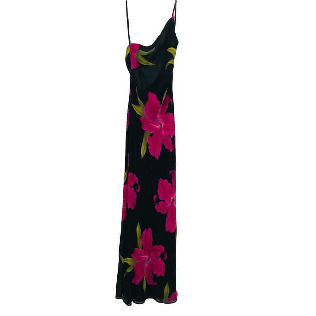 Black, Pink Maxi Dress by Cache Image 1