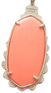 Kendra Scott Coral Pendant in Gold Plates