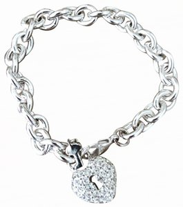 Juicy Couture Juicy Couture lock and key diamond bracelet