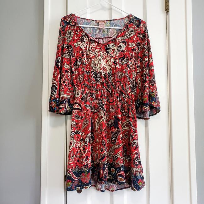 Preload https://item2.tradesy.com/images/flying-tomato-red-boho-paisley-tunic-short-casual-dress-size-4-s-25914786-0-0.jpg?width=400&height=650