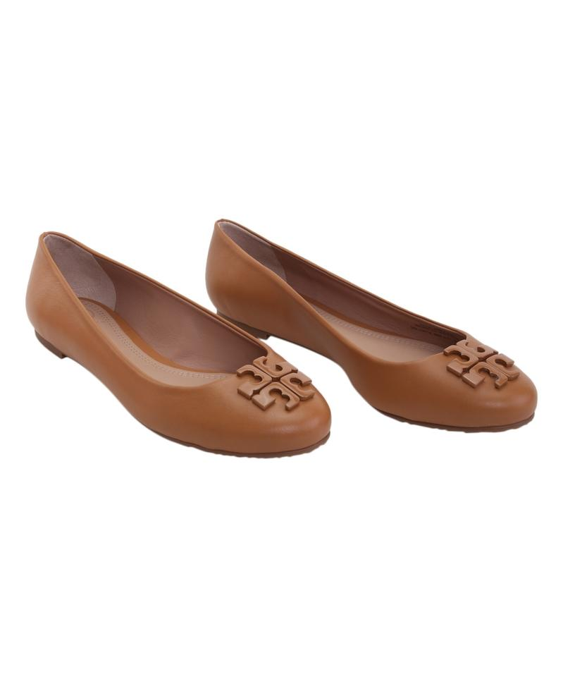 online shop uk cheap sale many styles Tory Burch Brown (Blond) Lowell 2 Leather Ballet Flats Size US ...