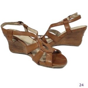 Kenneth Cole Reaction Sandal Brown Wedges