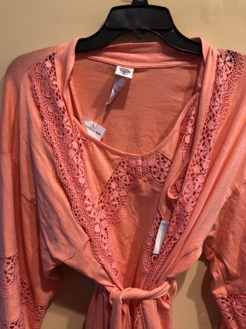 Nordstrom In Bloom by Jonquil 2 Pc Set Chemise Robe Cotton Lace small/ xsmal Image 11