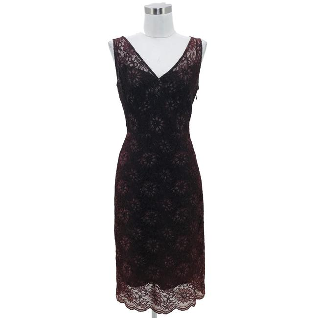 Preload https://img-static.tradesy.com/item/25914871/bcbgmaxazria-brown-designer-small-floral-lace-sheath-mid-length-cocktail-dress-size-6-s-0-0-650-650.jpg