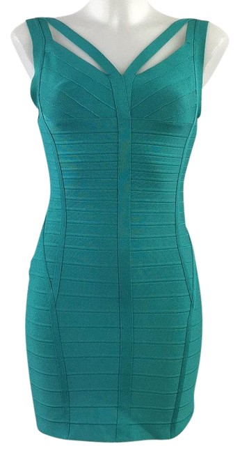 Preload https://img-static.tradesy.com/item/25914879/herve-leger-blue-turquoise-bodycon-small-short-night-out-dress-size-4-s-0-1-650-650.jpg