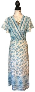 Blue and white Maxi Dress by Maison Garrison