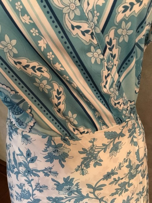 Blue and white Maxi Dress by Maison Garrison Image 1