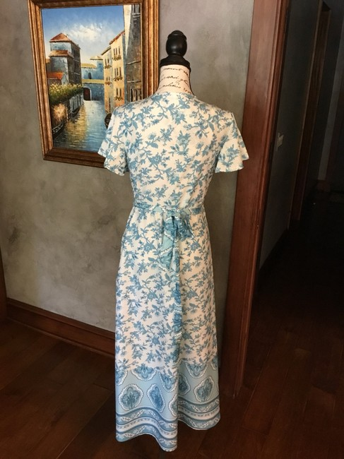 Blue and white Maxi Dress by Maison Garrison Image 3