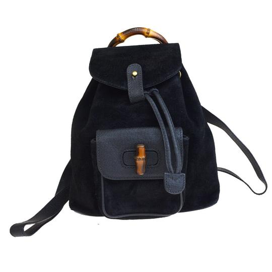 Preload https://img-static.tradesy.com/item/25914910/gucci-logos-mini-black-suede-skin-leather-bamboo-backpack-0-0-540-540.jpg