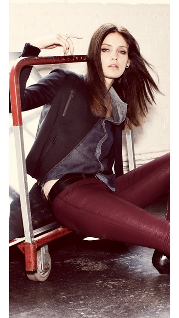J Brand Coated Stretchy Sexy Skinny Jeans-Coated Image 1