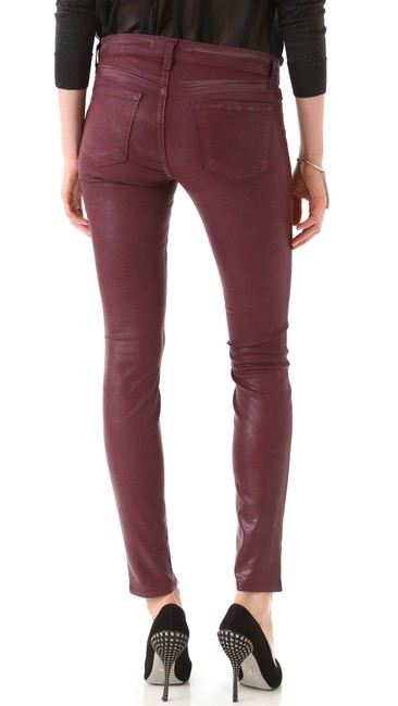 J Brand Coated Stretchy Sexy Skinny Jeans-Coated Image 2