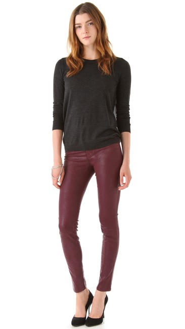 J Brand Coated Stretchy Sexy Skinny Jeans-Coated Image 3