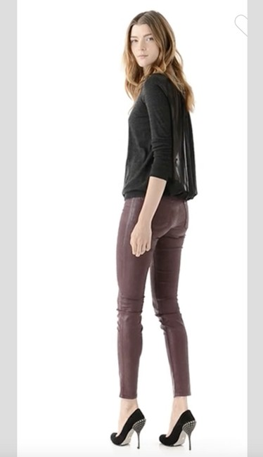 J Brand Coated Stretchy Sexy Skinny Jeans-Coated Image 4