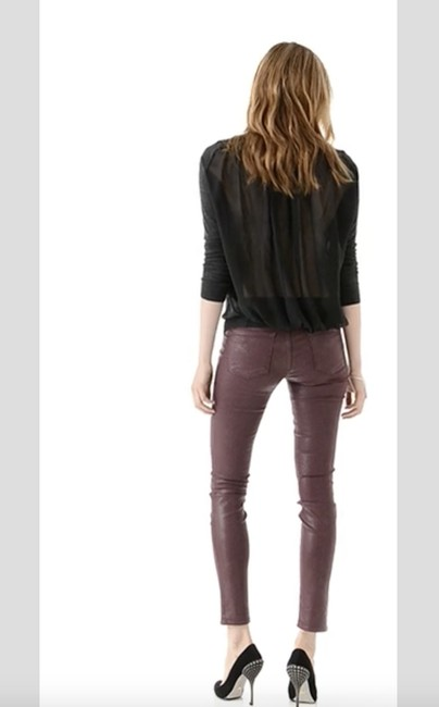 J Brand Coated Stretchy Sexy Skinny Jeans-Coated Image 5