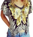 Other Vintage 1980s Butterfly Sequin Beaded Top