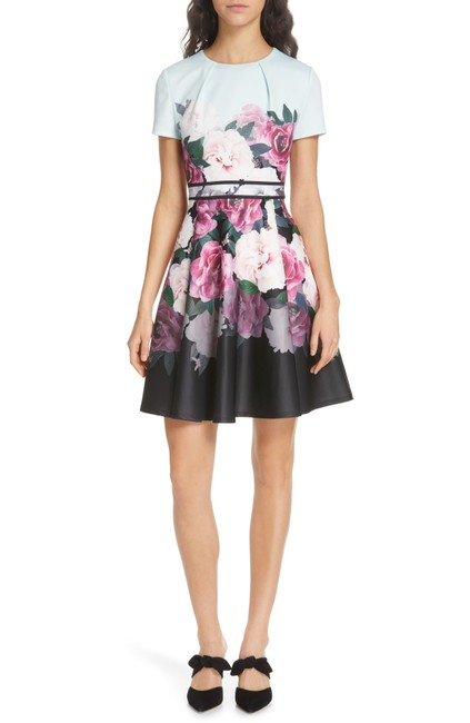 Preload https://img-static.tradesy.com/item/25914970/ted-baker-mint-floral-print-skater-short-casual-dress-size-4-s-0-0-650-650.jpg