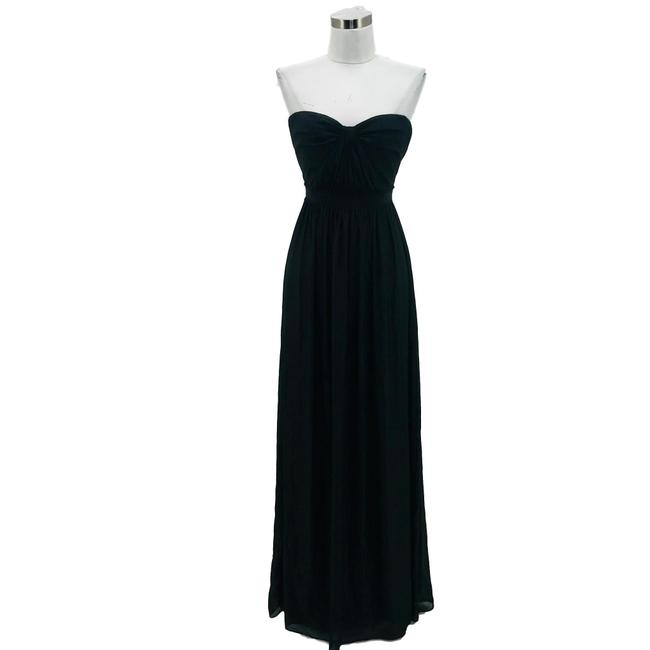 Item - Black Silver Designer Small Silk Strapless Long Formal Dress Size 4 (S)