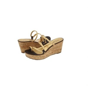 Kate Spade Gold and Brown leather Sandals