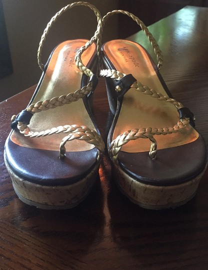 Kate Spade Gold and Brown leather Sandals Image 2
