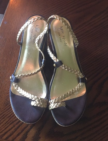 Kate Spade Gold and Brown leather Sandals Image 3
