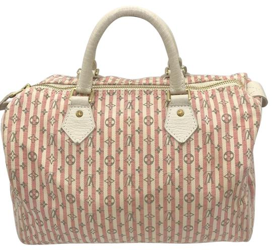 Preload https://img-static.tradesy.com/item/25915054/louis-vuitton-croisette-speedy-30-mini-lin-ivory-pink-striped-grey-rouge-canvas-satchel-0-1-540-540.jpg