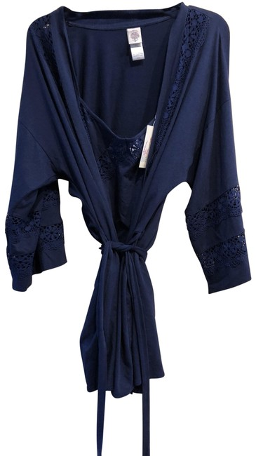 Preload https://img-static.tradesy.com/item/25915144/nordstrom-navy-in-bloom-by-jonquil-2-pc-set-chemise-robe-cotton-lace-medium-lrg-activewear-top-size-0-1-650-650.jpg