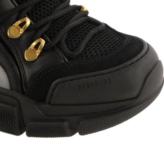 Gucci Leather Suede Canvas Rubber Gold Hardware Black Athletic Image 8