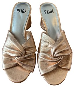Paige rose gold Wedges