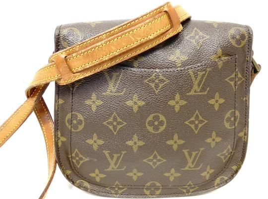 Louis Vuitton Monogram Handbag Vintage Leather Crisscross Strap Cross Body Bag Image 2