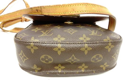Louis Vuitton Monogram Handbag Vintage Leather Crisscross Strap Cross Body Bag Image 4