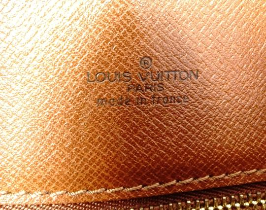 Louis Vuitton Monogram Handbag Vintage Leather Crisscross Strap Cross Body Bag Image 5