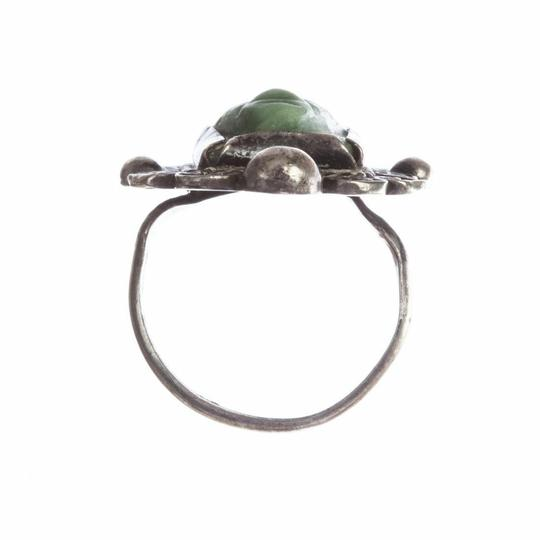 Mexico, 900 Mexican Carved Jade Mask Ring Image 3