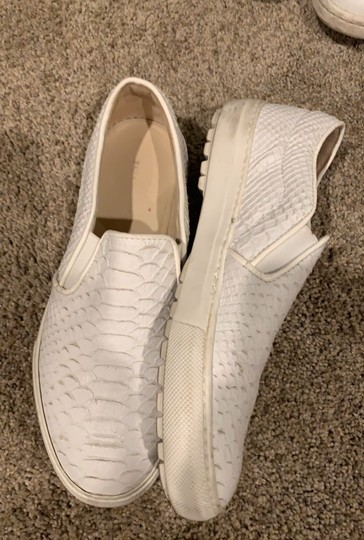 zara leather slip on sneakers white Athletic Image 1