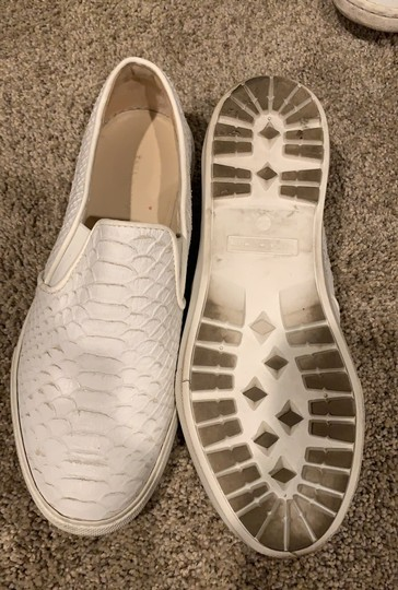 zara leather slip on sneakers white Athletic Image 2