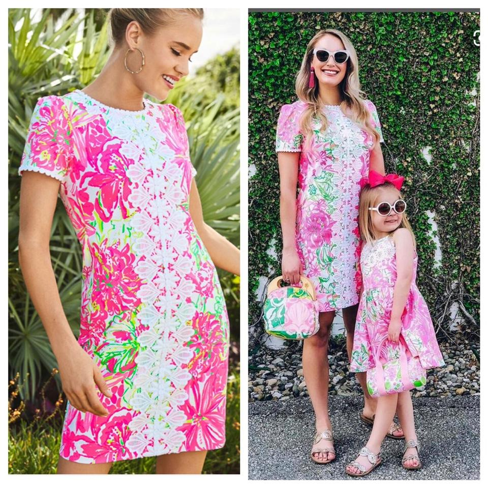 Lilly Pulitzer Pink Maisie Stretch Shift Short Casual Dress Size 16 (XL,  Plus 0x) 31% off retail