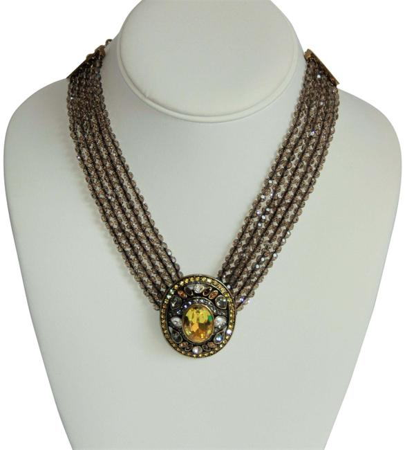 Item - Gold Paisley Collection Swarovski Crystal Necklace