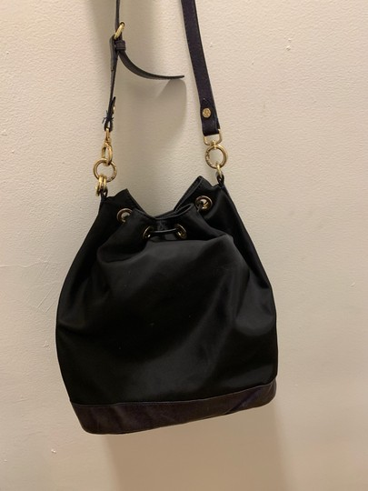 MZ Wallace Tote in black with purple/blue leather Image 3