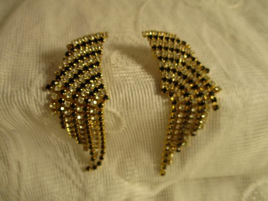 Other vintage fringed dangle rhinestone earrings Image 8