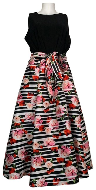 Preload https://img-static.tradesy.com/item/25915272/multicolor-sleeveless-black-floral-fit-flare-midi-mid-length-cocktail-dress-size-14-l-0-1-650-650.jpg