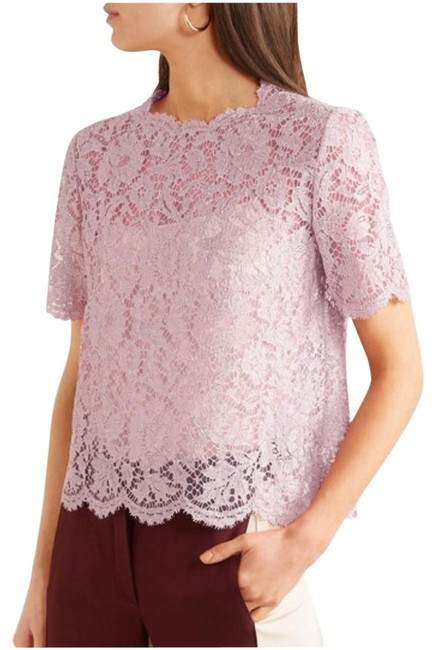 Preload https://img-static.tradesy.com/item/25915276/valentino-red-scallop-corded-lace-short-sleeve-in-burgundy-blouse-size-4-s-0-1-650-650.jpg