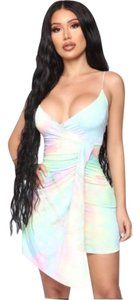 Fashion Nova short dress Multi (green, pink, yellow, blue, lavender) on Tradesy
