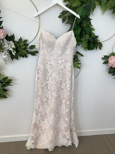 Wtoo Ivory/Blush Tulle and Lace Winnifred Feminine Wedding Dress Size 6 (S)