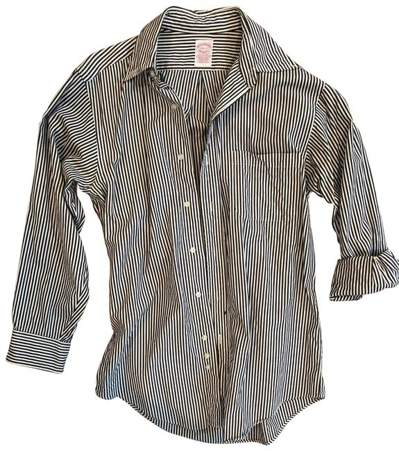 Preload https://img-static.tradesy.com/item/25915291/brooks-brothers-black-and-white-pin-stripped-blackwhite-button-down-top-size-8-m-0-1-650-650.jpg