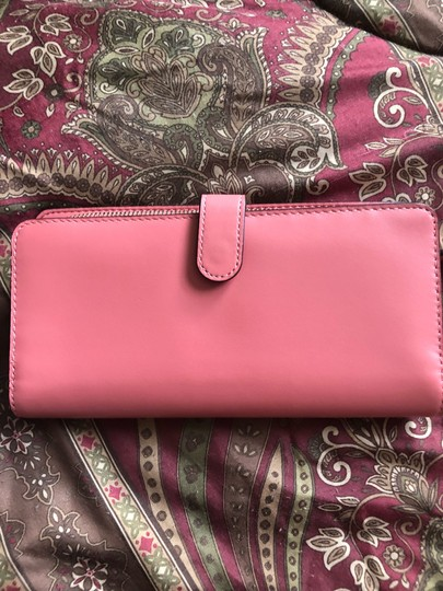 Coach Wristlet in bright coral/silver Image 1