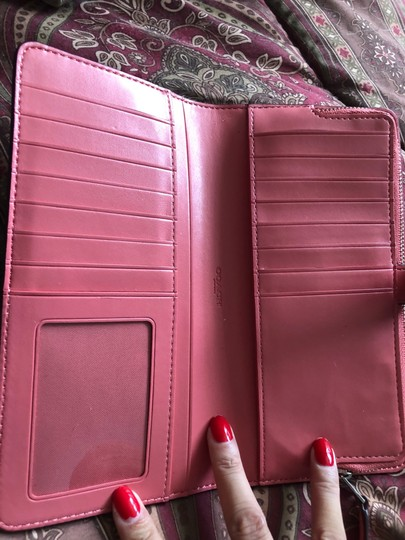 Coach Wristlet in bright coral/silver Image 2