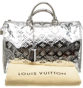 Louis Vuitton Satchel in Silver Monogram Mirior Miroir Mirror