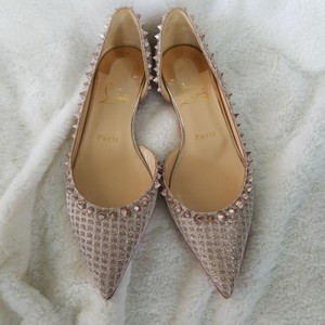 Christian Louboutin Rose gold Flats