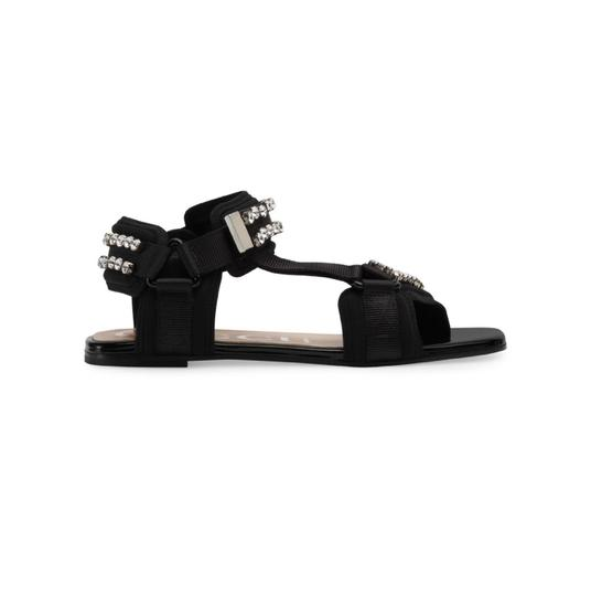 Gucci Gg Espadrille Double G Black Sandals Image 1